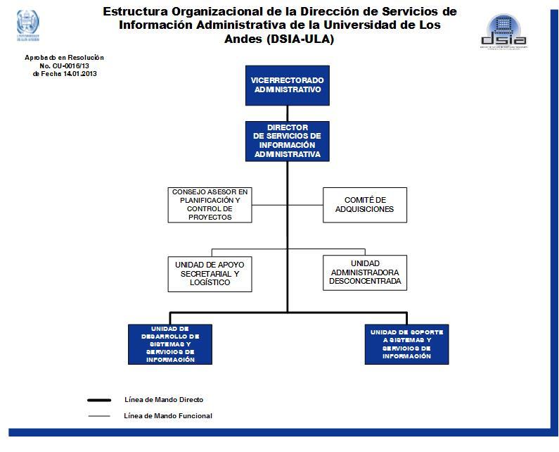 estructura organizativa de la DSIA ULA